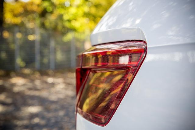 zadní světlo auta