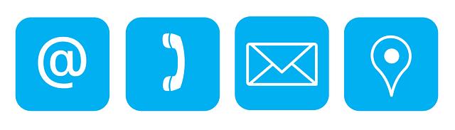 znaky - zavinář, telefon, obálka, gps