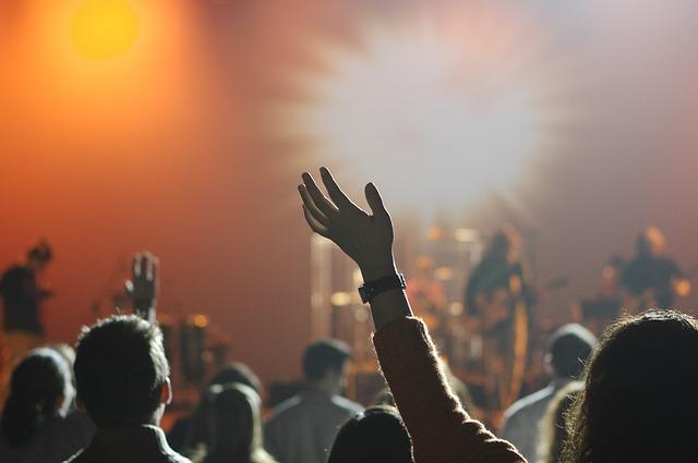 lidé na koncertě