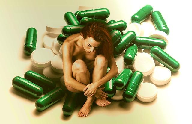 žena pod léky